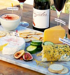 """How to create a Mexican themed cheeseboard - sounds kinda wacky, but it looks really fun! Might be a good """"beginner's"""" cheese tasting experience."""