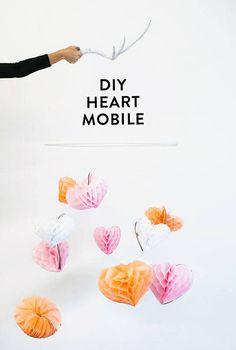 DIY heart mobile | designlovefest