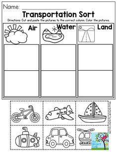Transportation Worksheets for Kindergarten. 20 Transportation Worksheets for Kindergarten. Preschool Class, Preschool Themes, Preschool Lessons, Preschool Learning, Kindergarten Worksheets, Learning Activities, Worksheets For Kids, Preschool Social Studies, Preschool Printables