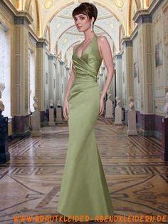 Meerjungfrau Grünes apartes Abendkleid aus Satin
