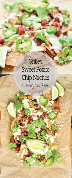 Grilled Sweet Potato Chip Nachos are a fun way to put that grill to use! They have the perfect spice factor!