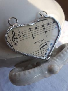 Music heart glass soldered locket french letter boho vintage Bohemian Gypsy, Boho, Music Heart, Sister Gifts, Letter, French, Gemstones, Paris, Glass