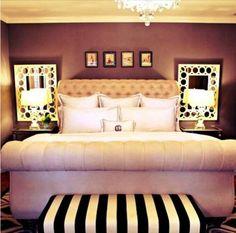 Like the wall color, mirrors, nightstands, lighting, headboard