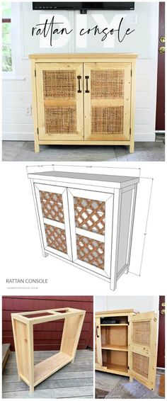 Diy Furniture Plans, Diy Furniture Projects, Cool Diy Projects, Handmade Furniture, Wood Projects, Project Ideas, Woodworking Tutorials, Woodworking Plans, Rustic Hardware