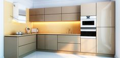 Metal cabinets in your kitchen provide a crisp and stunning alternative to the everyday scene of wooden cabinets. You may find metal kitchen cabinets Aluminum Kitchen Cabinets, Aluminium Kitchen, Kitchen Design Open, Kitchen Cabinet Design, L Shaped Modular Kitchen, New Kitchen Interior, Kitchen Fitters, Style Loft, Cuisines Design