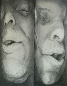 DC & Virginia artist Scott Hutchison creates surreal figure portrait paintings and drawings. Distortion Art, Graphite Drawings, Portrait Images, Human Condition, Painting Inspiration, Painting & Drawing, Smudging, Close Up, Shadows