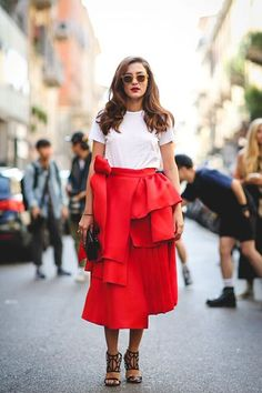 The Style Anti-Resolutions To Make In 2016  #refinery29  http://www.refinery29.com/style-anti-resolutions-2016#slide-20  Pair your dressy evening skirts with a plain white tee for the perfect blend of fancy and casual....