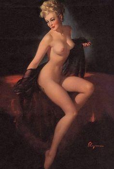 ELVGREN UNVEILING PINUP Nude Calendar art by VANGUARDGALLERY, $49.95