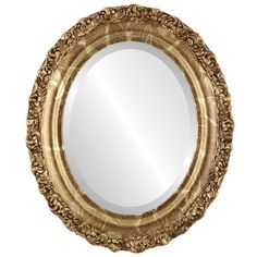 The Oval And Round Mirror Store Venice Framed Oval Mirror in Champagne Gold, 23 Oval Mirror, Beveled Mirror, Oval Frame, Round Mirrors, Framed Mirrors, Transitional Bathroom Mirrors, Mirror Store, Traditional Wall Mirrors, Mirrors For Sale