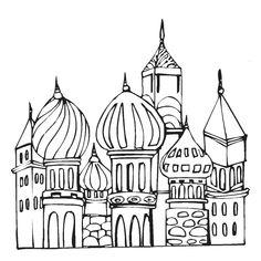kleurplaat moskee-torens
