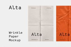 Wrinkle - Fold Paper Mockup by Bolderaja1 Studio on @creativemarket