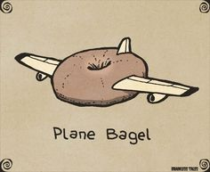 Plane Bagel animals silly animals animal mashups animal printables majestic animals animals and pets funny hilarious animal Funny Food Puns, Punny Puns, Funny Jokes, Hilarious, Food Humor, Art Puns, Visual Puns, Funny Doodles, Jokes And Riddles
