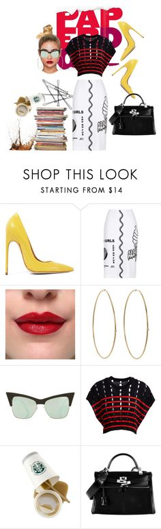 """""""PAPER DOLL"""" by jsf-nyc ❤ liked on Polyvore featuring Brian Atwood, STELLA McCARTNEY, Jennifer Meyer Jewelry, Topshop, T By Alexander Wang and Hermès"""