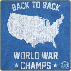 Back To Back Champs-the AP US History teacher in me loves this!