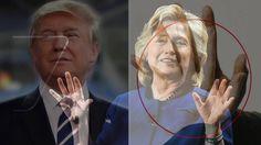 Hilary ma męski indeks długości palców - niedobrze, Trumph - bardzo małe...