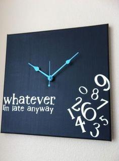Nô time clock, une horloge qui n'affiche pas le temps... Intemporel