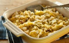 This savory gratin is perfect paired with corned beef or as a hearty vegetarian main. To serve a crowd, simply double the recipe and bake it in a 9x13-inch casserole dish instead. Substitute any veggies you have on hand, but be sure to keep the sharp cheddar and mustard!
