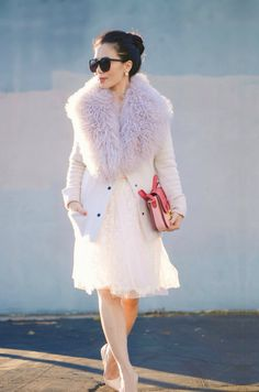 Romantic: Faux Fur , Cashmere and Tulle
