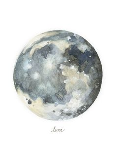 Lindsey Mutschler is a Seattle-based artist and illustrator specializing in scientific and botanical illustration. Prints of these moons are for sale at Painting Inspiration, Art Inspo, Planet Painting, Watercolor Moon, Watercolor Paintings Tumblr, Luna Moon, Moon Illustration, Moon Painting, Moon Print