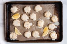 Get ready for your new favorite sweet treat: Healthy Lemon Cookies. These vegan, gluten-free goodies make wonderful mid-day or late night snacks. Made with almond flour, maple syrup, and lemon zest, they're absolutely heavenly! Gluten Free Cookies, Healthy Cookies, Gluten Free Baking, Healthy Sweets, Healthy Deserts, Paleo Treats, Healthy Baking, Lemon Desserts, Lemon Recipes