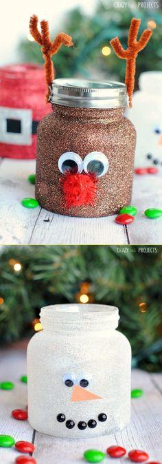 An Easy Christmas Gift: 10 Christmas Spirit Jar Ideas - Handcrafted Ideen Simple Christmas, Christmas Holidays, Christmas Crafts, Christmas Decorations, Christmas Ornaments, Christmas Recipes, Christmas Ideas, Fun Easy Crafts, Easy Craft Projects