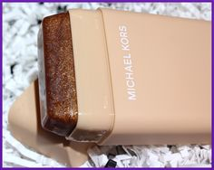 "Michael Kors Leg Shine - a deoderant style (comes in 3 colors) tanning stick, is a hit with designers and models...imparting a hint of glimmery/bronzy tint that ""won't rub off on clothes."""