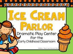 Ice Cream parlor dramatic play center for preschool students. Dramatic Play Themes, Dramatic Play Area, Dramatic Play Centers, Homeschool Preschool Curriculum, Preschool Lesson Plans, Preschool Classroom, Preschool Ideas, Teaching Ideas, Classroom Ideas