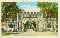Entrance to Old Capitol Building, now Georgia Military College, Milledgeville, Ga. - Front Side | Flickr - Photo Sharing!