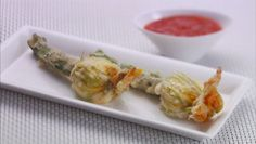 Giada De Laurentiis - Fried Cheese-Stuffed Zucchini Blossoms