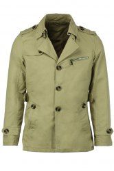 Turn-Down Collar Epaulet Single Breasted Long Sleeve Trench Coat For Men in Light Khaki | Sammydress.com Mobile