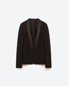 BLAZER WITH TUXEDO LAPEL - NEW IN-WOMAN | ZARA United States