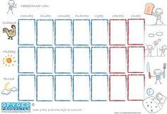 Senior Year Checklist, Week Planner, Pictogram, Planer, Teaching, How To Plan, School, Routine, Kids