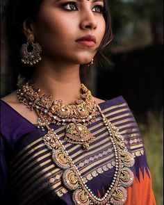 Nothing beats the beauty of south indian jewellery! Image and Makeup via @steffhairandmakeup . . #wedmegoodsouth #wedmegood #southindianweddings #southindianjewellery