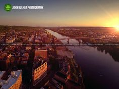 Sunset on 05.17.2015 over Troy, New York and the Hudson River by John Bulmer Photography. www.bulmerphotography.com