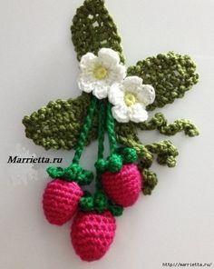 Delicadezas en crochet Gabriela: Fresa, lirios y rosas crochet. Esquemas