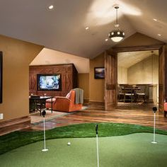 1000 Images About Golf Rooms On Pinterest Golf Room Indoor Putting Green