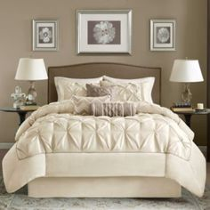 "<p>If a luxurious bedroom makeover is in order, the Lafayette comforter set will refresh your space with beautiful tufting and a pieced border for added dimension.</p><div style=""page-break-after: always"