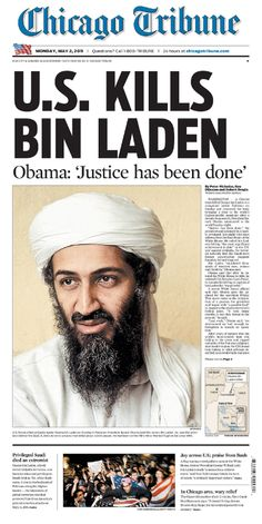 Newspaper headline Osama Bin Laden - Google Search