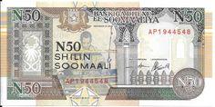 SOMALIA CÉDULA DE 50 SHILIN ANO 1991 - PEÇA FLOR DE ESTAMPA - PEÇA EM EXCELENTE ESTADO DE CONSERVA