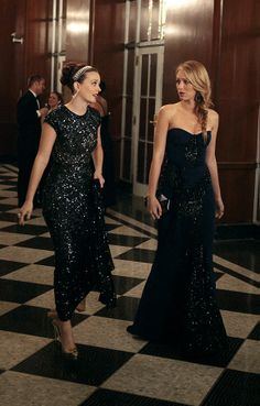 serena and blair #dress #evening #gown #glitter #strapless