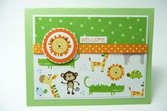 Little Boy Baby Card Lion Baby Card Baby Shower by periwinklecards, $4.50