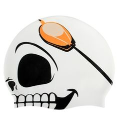 This fun Skull Silicon #Swim Cap will be a treat to wear at practice, without the tricks. #swimoutlet