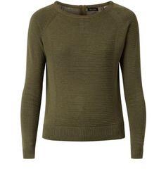 http://www.newlook.com/shop/womens/knitwear/khaki-ribbed-zip-back-jumper_326370034