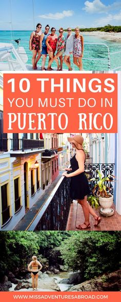 10 Unforgettable Experiences To Have In Puerto Rico - Miss Adventures Abroad Puerto Rico Trip, San Juan Puerto Rico, Caribbean Vacations, Caribbean Cruise, San Juan Beach, El Yunque Rainforest, Stuff To Do, Things To Do, Puerto Rican Culture