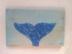 Sea glass art Whale Tail wall decor whale nautical sea by SignsOf