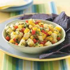 Mango Pineapple Salsa.