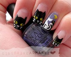 Halloween cat nails