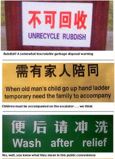 Chinglish! Hilarious examples of signs lost in translation   Mail Online