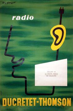 DUCRETET THOMSON RADIO (EAR) by Guy Georget c.1960