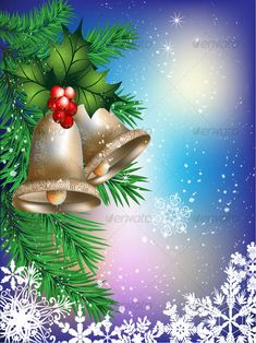 VECTOR DOWNLOAD (.ai, .psd) :: http://hardcast.de/pinterest-itmid-1000048322i.html ... Christmas card ...  bells, blue, celebration, christmas, clean, green, holiday, mistletoe, new year, red, snowflake, spruce branches, white, yellow  ... Vectors Graphics Design Illustration Isolated Vector Templates Textures Stock Business Realistic eCommerce Wordpress Infographics Element Print Webdesign ... DOWNLOAD :: http://hardcast.de/pinterest-itmid-1000048322i.html